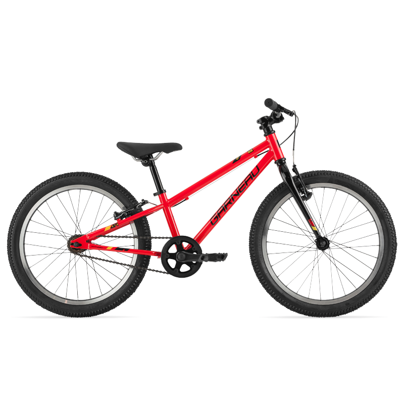 The Rapido 203 is a great all-around 20'' kids' bike. With only one speed and a high-tensile steel frame, the Rapido 203 will take whatever your little tike can throw at it.