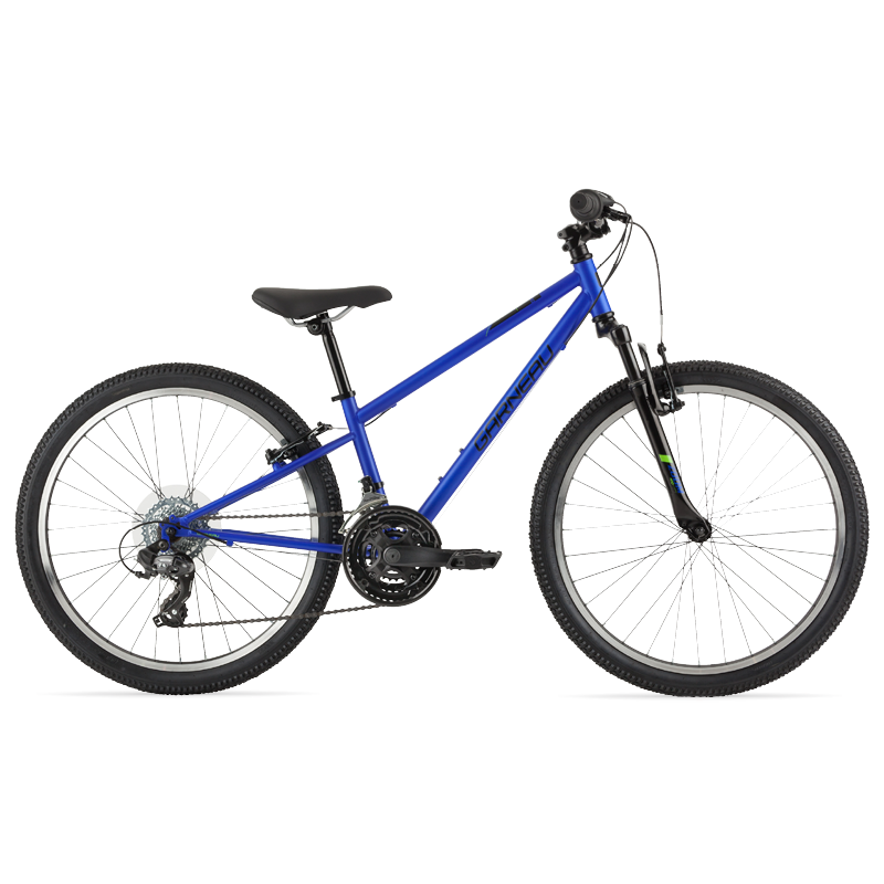 The Rapido 241 is the oldest sibling out of the Rapido series, and comes ready to hit the trails! Front suspension, a 3 x 7 drivetrain, durable and rugged 24'' off-road wheels and tires, and a high tensile steel frame are just a few of the features that make this bike trail-ready!