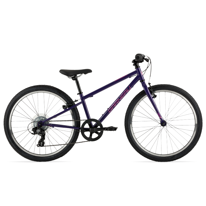 While slightly better suited for paved surfaces, the Rapido 242 still comes equipped with wider, durable 24'' wheels and tires that are great for hard-packed off-road surfaces, and a 1 x 7 drivetrain that offers great gearing options for those hilly areas.