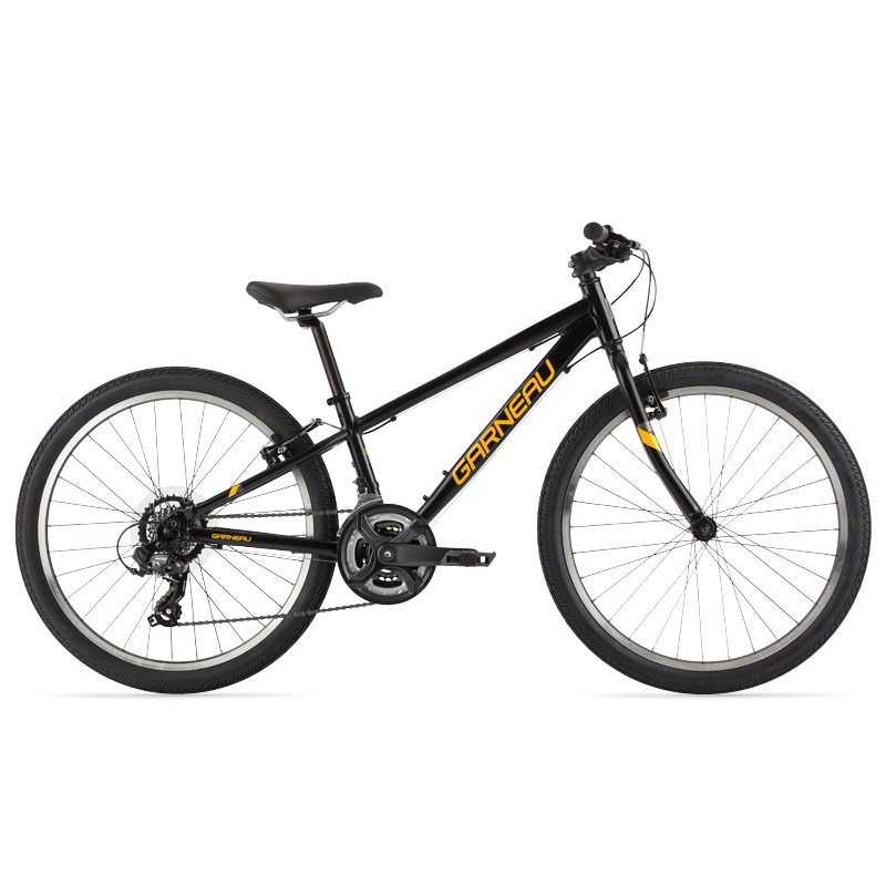 The Atom 24 is a modern kids' bike with a lightweight aluminum frame that offers extreme versatility. Its Shimano Tourney TY300 group set helps climbing big hills a breeze, and its durable brakes matched with 24'' wheels and slick tires make this great bike for riding on pavement and paths with confidence.