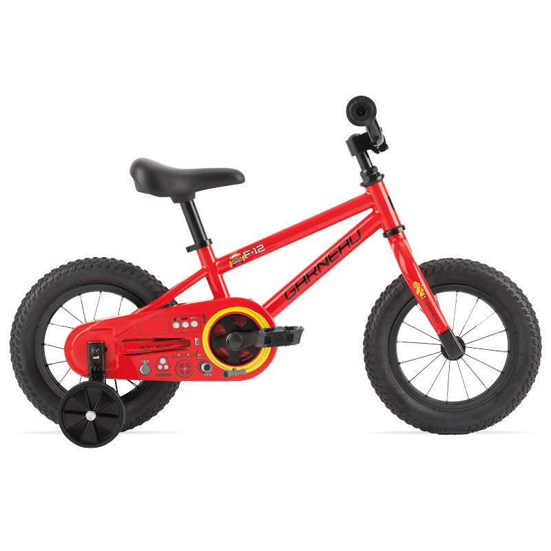 F-12 kids bike comes with 12 wheels, training wheels for added confidence, a single speed which makes it very low maintenance and extremely durable, and a coaster brake that lets the child stop with confidence by pushing back on the pedals. Get her the F-12 today and let his dream away.