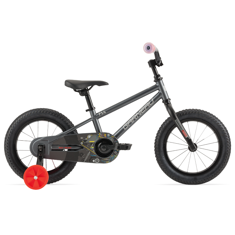 The F-14 is super durable for those long days flying by the other kids in the neighborhood. It comes as a single speed with a coaster brake and removable training wheels for when they learn their balance.