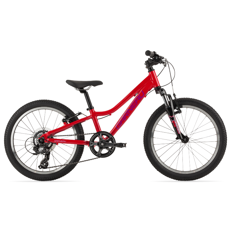 The Trust series of Garneau bikes offer all the necessities for your kid's first dedicated off-road mountain bike. The 201 is our girl's 20'' platform.