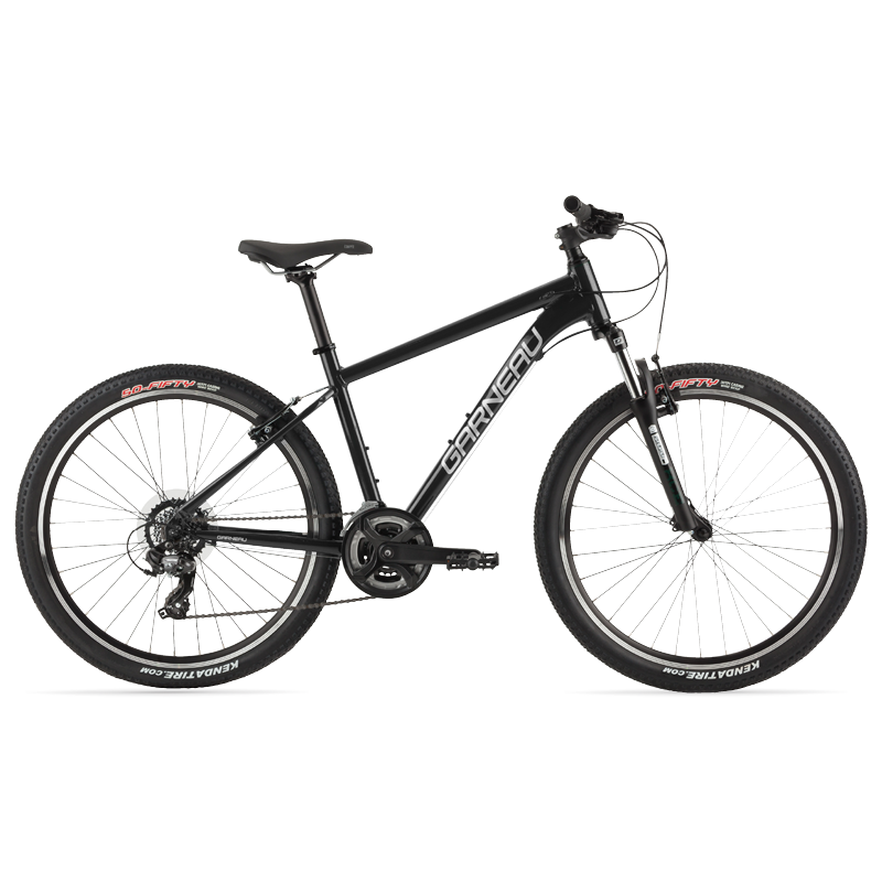 The Trust series of Garneau bikes offer all the necessities for your first dedicated off-road mountain bike. The Trust 264 is the 26'' platform which offers 80 mm of travel in the fork to get over trail features, a 3 x 7 drivetrain to climb with ease and an aluminum frame to save on weight and help accelerate easily.