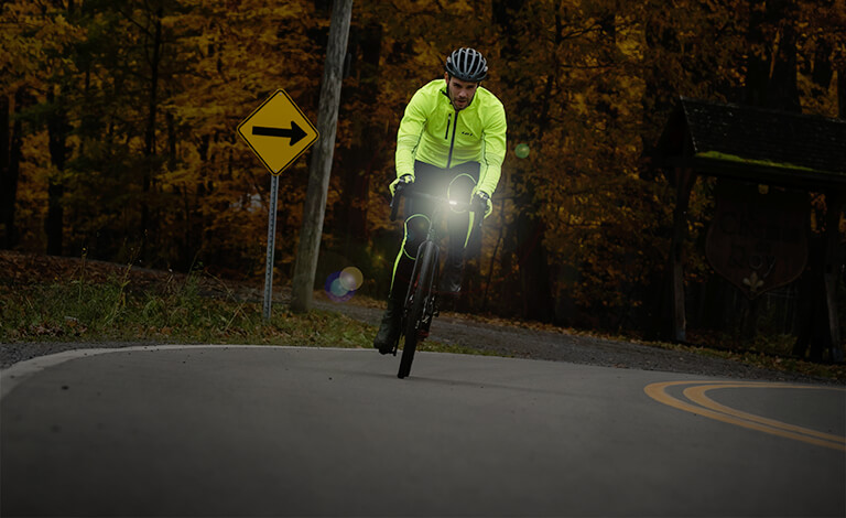 Light in front of your bike to enhance visibility