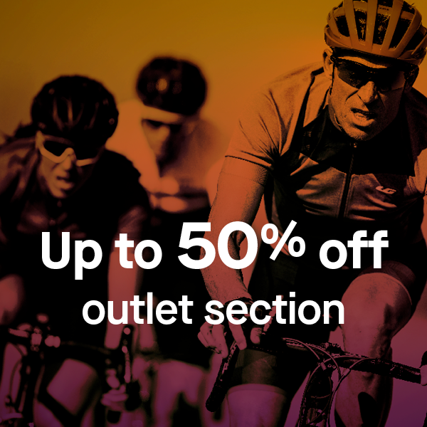 Up to 50% off outlet section